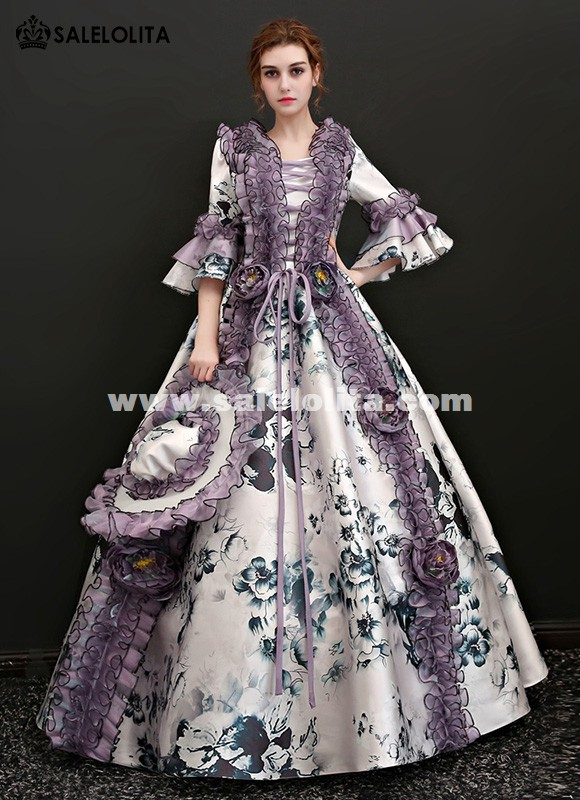 Rococo and Carnivale Gowns Christmas Masquerade Gown Theme Party Women Dress