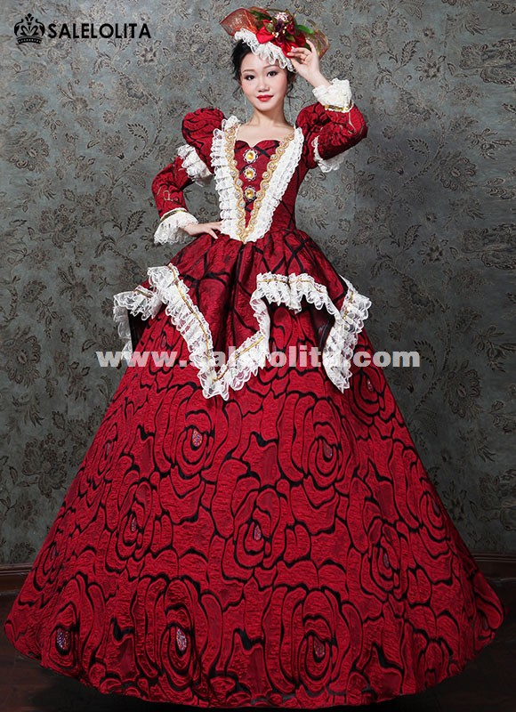 Marie Antoinette Wedding Masquerade Gown Victorian Prom Dress Women Carnivale Party Dress