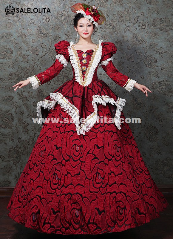 Marie Antoinette Wedding Masquerade Gown Victorian Prom Dress Women ...