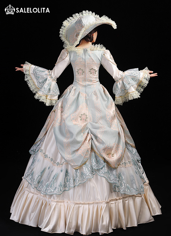 White Vintage Southern Belle Marie Antoinette Dress Lolita Style Rococo Christmas Ball Gown Theatrical Clothing