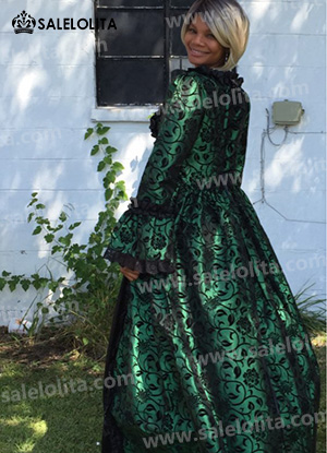 Victorian Party Georgian Period Dress Reenactment Theatrical Stage Costumes