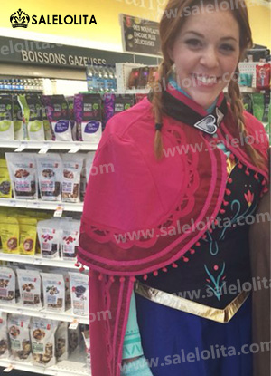Adult Princess Anna Dress For Women Fantasy Snow Queen Anna Cosplay Costume For Halloween