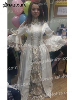 Elegant Champagne Victorian Marie Antoinette Dresses Costumes