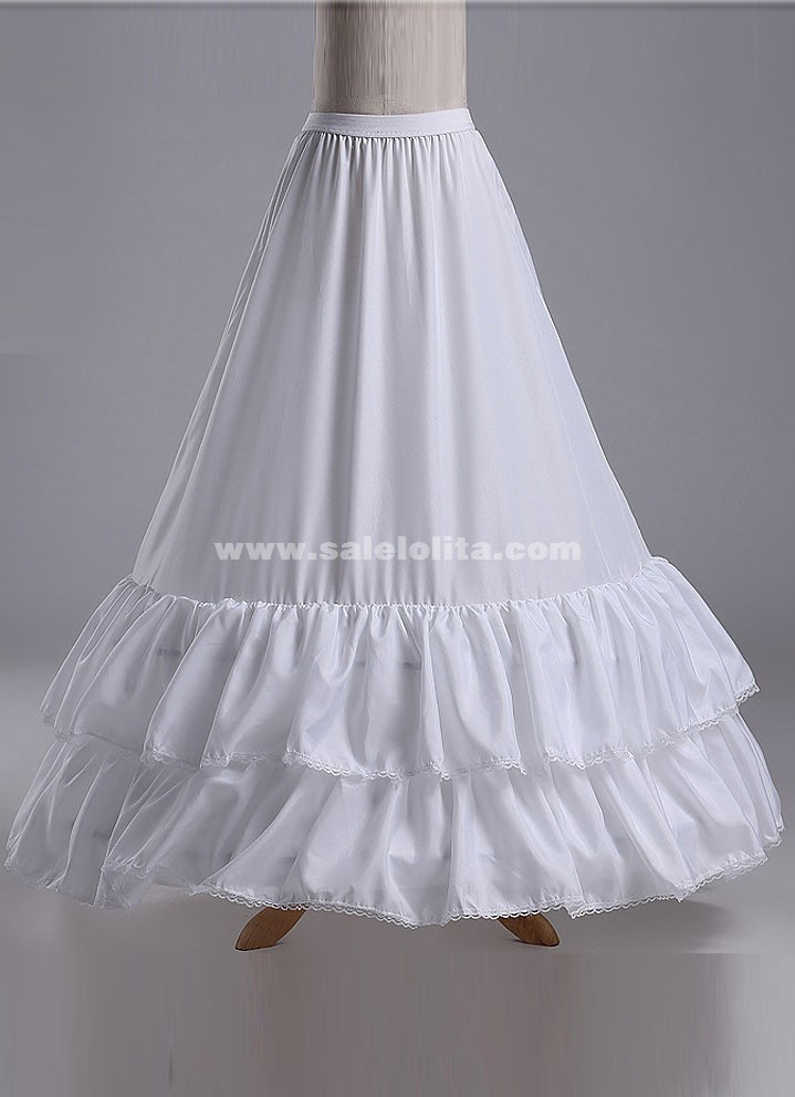 Wedding Bridal Gown Dress Petticoat,Three Hoops And Two Layer Gauze ...