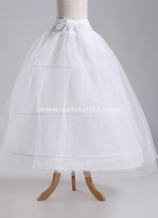 Wedding Bridal Gown Dress Petticoat Three Hoops And Two