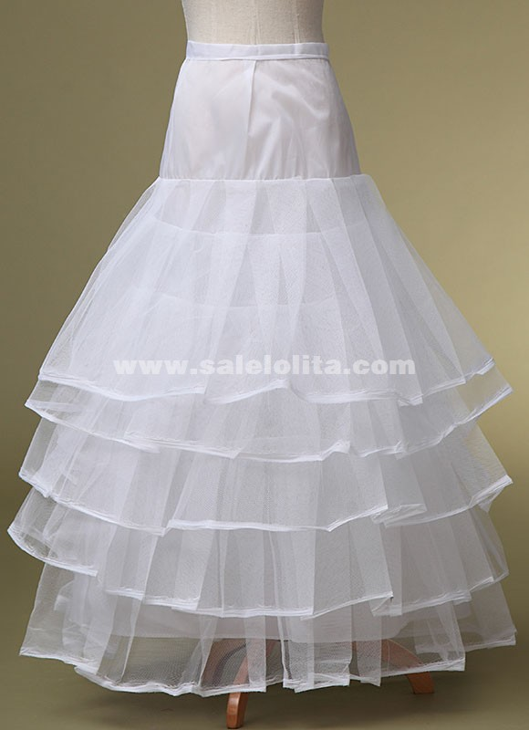 High grade white no bone four layers yarn wedding dress for Wedding dress hoops for sale