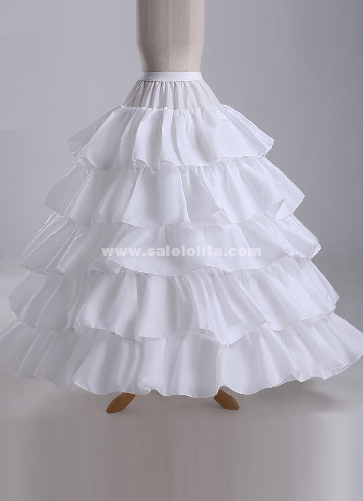 2016 Hot Sale Cheap Ball Gown 4 Hoops 5 Layers Ruffles Wedding Petticoat Slip Underskirt