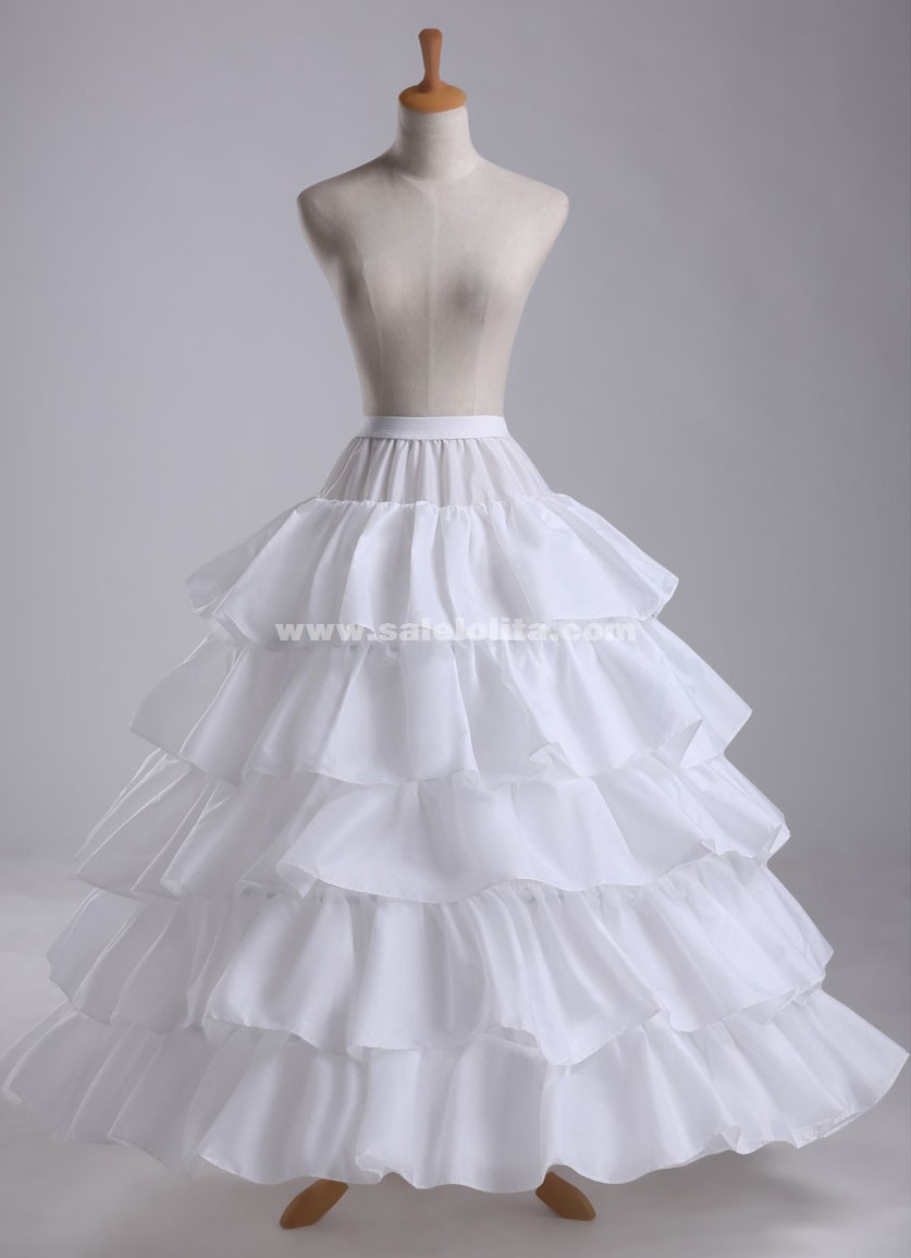 2016 Hot Sale Cheap Ball Gown 4-Hoops 5-Layers Ruffles Wedding ...
