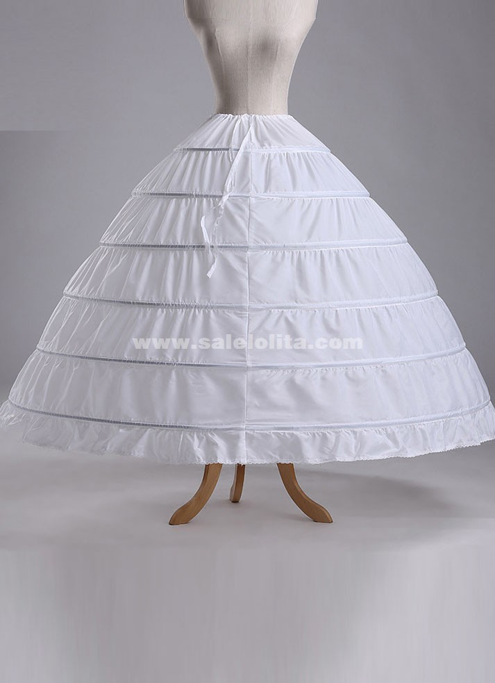 Hot sales new white 6 hoops ball gown crinoline wedding for Wedding dress hoops for sale