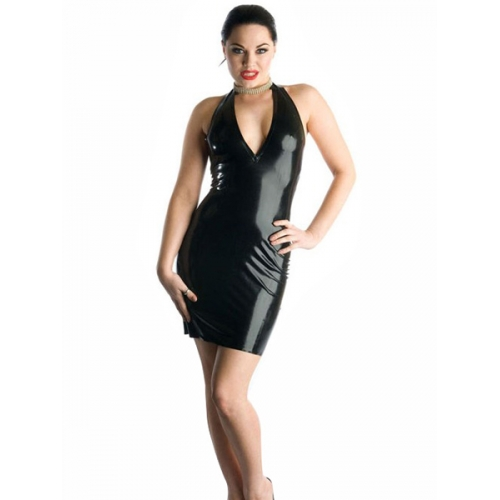 Think, latex mini dress for the