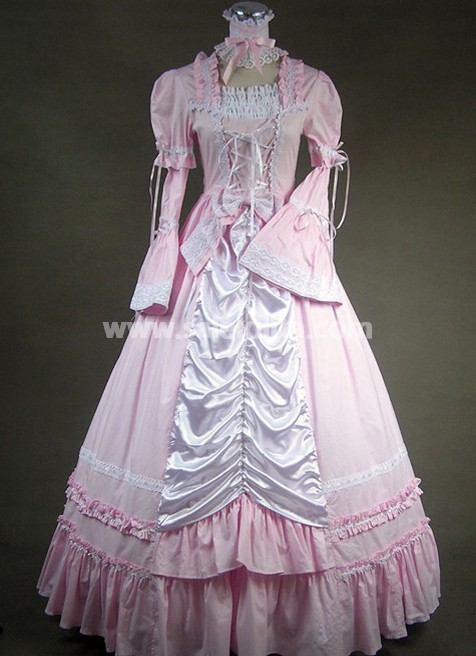 Cheap Elegant And Noble Light Pink Victorian Style Dress