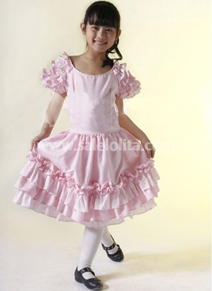 pink sweet heart kids lolita dress salelolitacom