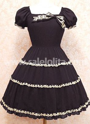 Gothic Lolita Dress with Short Sleeves