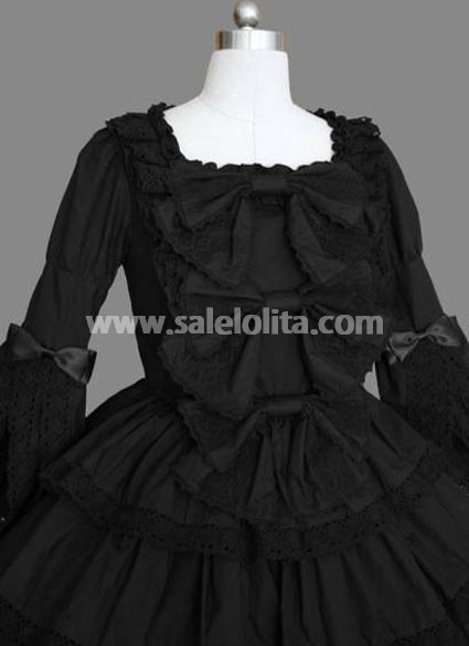 Top Fashion Black Gothic Lolita Dress Under 100