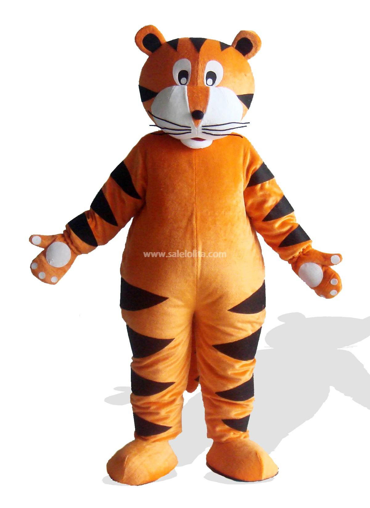Tiger With White Claw Plush Adult Mascot Costume - SaleLoLita.com