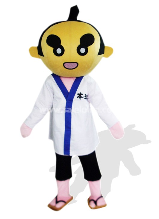 Cool Cheap Sumoto People In White Clothes Plush Mascot Costume