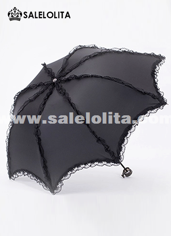Hot Sale Black Lolita Umbrella