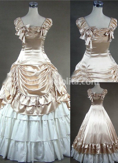 Luxuriant Champagne Gothic Victorian Dress - SaleLoLita.com