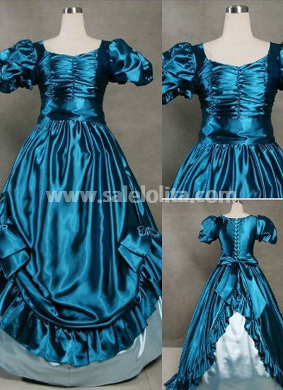 Vintage Blue Gothic Victorian Dress for Sale