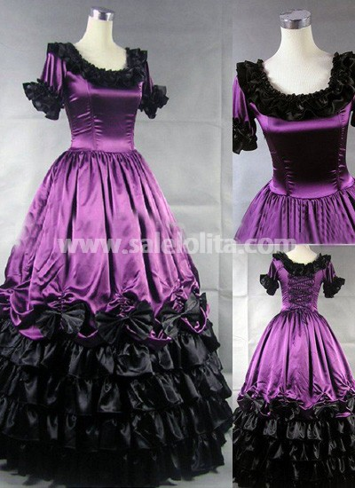 ornate purple gothic victorian dress salelolitacom
