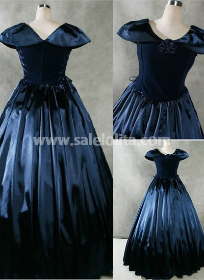 Fancy Navy Blue Gothic Victorian Dress for Sale