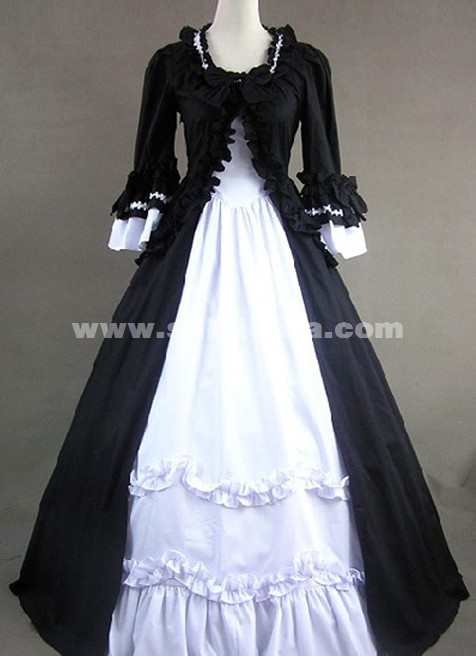 Luxurious Long Black Gothic Vitoria Prom Dresses For Halloween