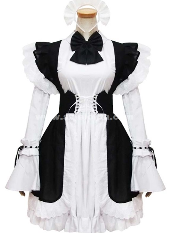 Black And White Cosplay Maid Dress Dresses