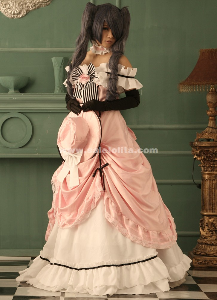 Cheap Pink Ciel Phantomhive Cosplay Costume For Halloween