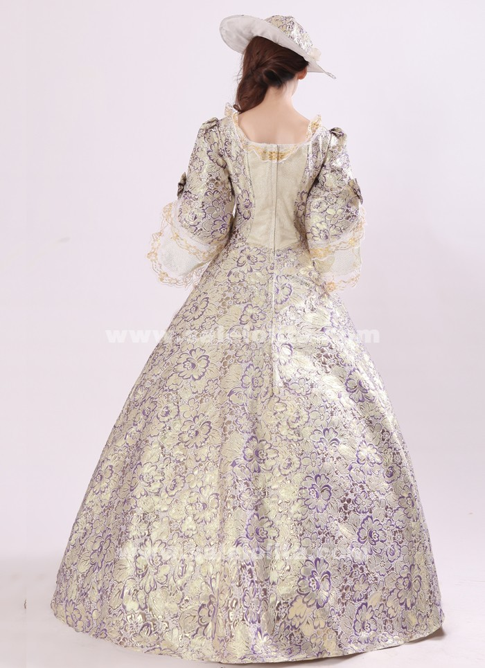 Royal blue medieval dress