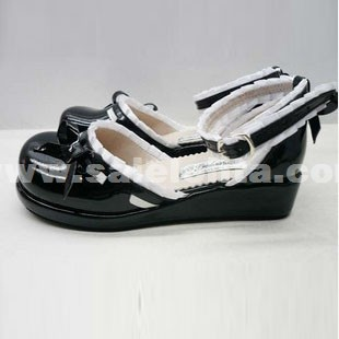 Fashion Black SD Style Lolita White Lace Shoes