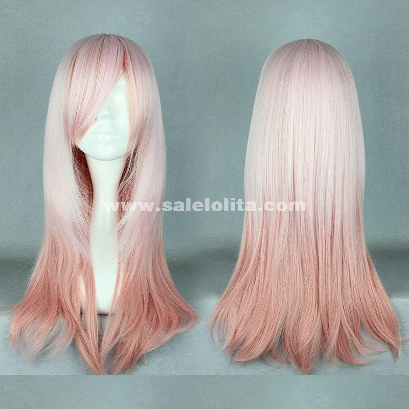 Fashion Lolita Wigs,Multicolor Gradient Long Straight Hair