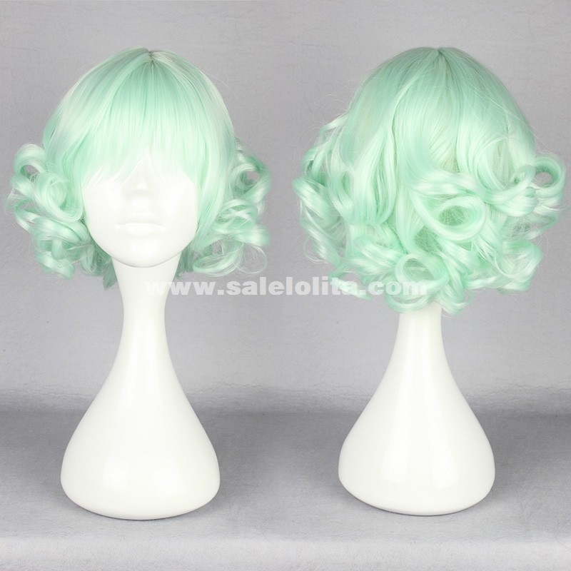 New Fashion Light Green Lolita Wigs Short Curl