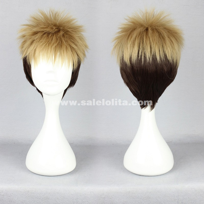Fashion Brown Mixed Black Cosplay Lolita Wigs/Short Hair