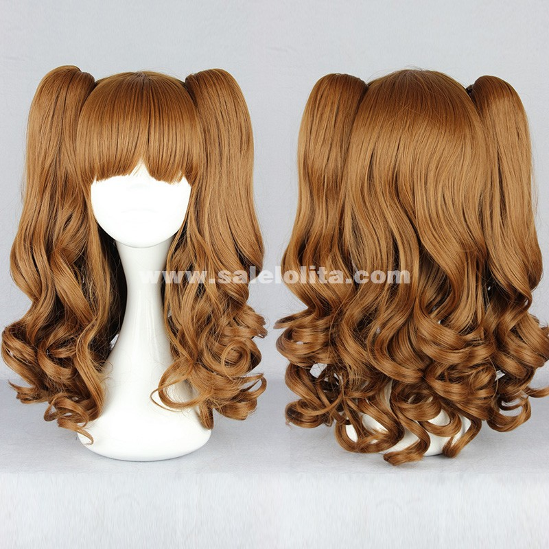 Cosplay Japanese Lolita Wigs,Brown Pigtails For Laides