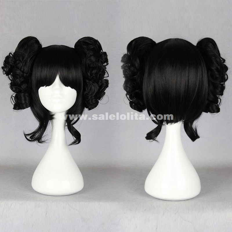 Black Cosplay Japanese Lolita Short Wig
