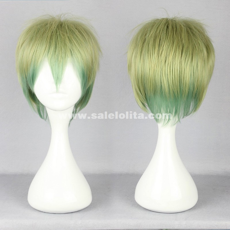 Cosplay Lolita Wig,Mix Color Short Hair