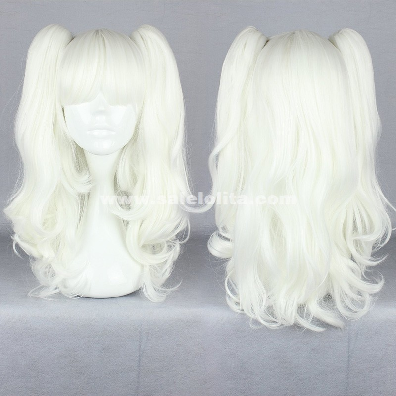 Cosplay Japanese Harajuku Lolita Wig,White Twin Tail Hair