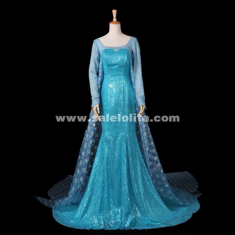 Hot Sale Disney Frozen Elsa Ball Gowns,Frozen Queen Elsa Cosplay ...