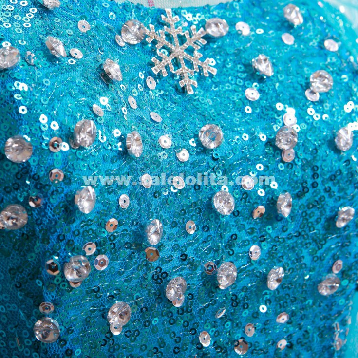 Frozen Elsa Gowns Dress Dairy Queen Elsa Pure Handmade Frozen Cosplay Costumes