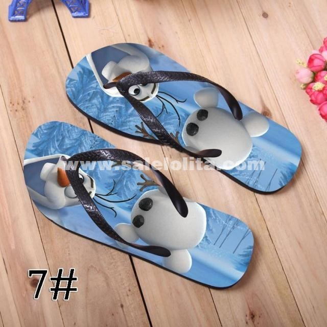 Frozen Slippers Snow And Ice Adventure Elsa & Anna Disney Cartoon Slippers For Women And Men
