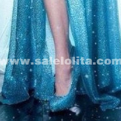 Frozen Elsa Crystal Shoes Dairy Queen Cosplay High Heels