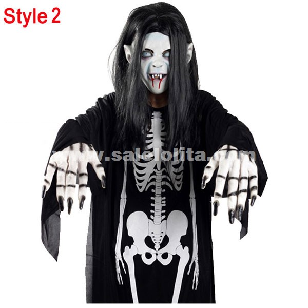 kids adults terrorist of ghost clothes black and white halloween vampire costumes - Clothes Halloween