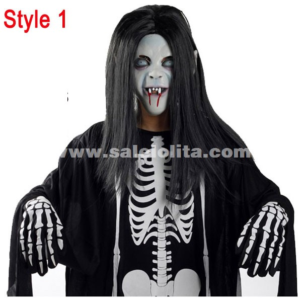 Kids u0026 Adults Terrorist Of Ghost Clothes Black And White Halloween V&ire Costumes. Loading  sc 1 st  Salelolita.com & Kids u0026 Adults Terrorist Of Ghost Clothes Black And White Halloween ...