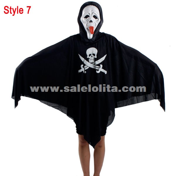 Halloween Pirate Ghost Clothes,Horrible Sickle Ghost Costumes For Kids And Adult