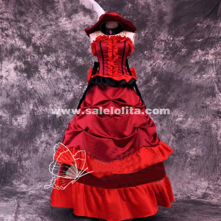 Anime Black Butler Cosplay Black Butler Madam Red Angelina Dalles Women's Party Costume Cosplay Costume