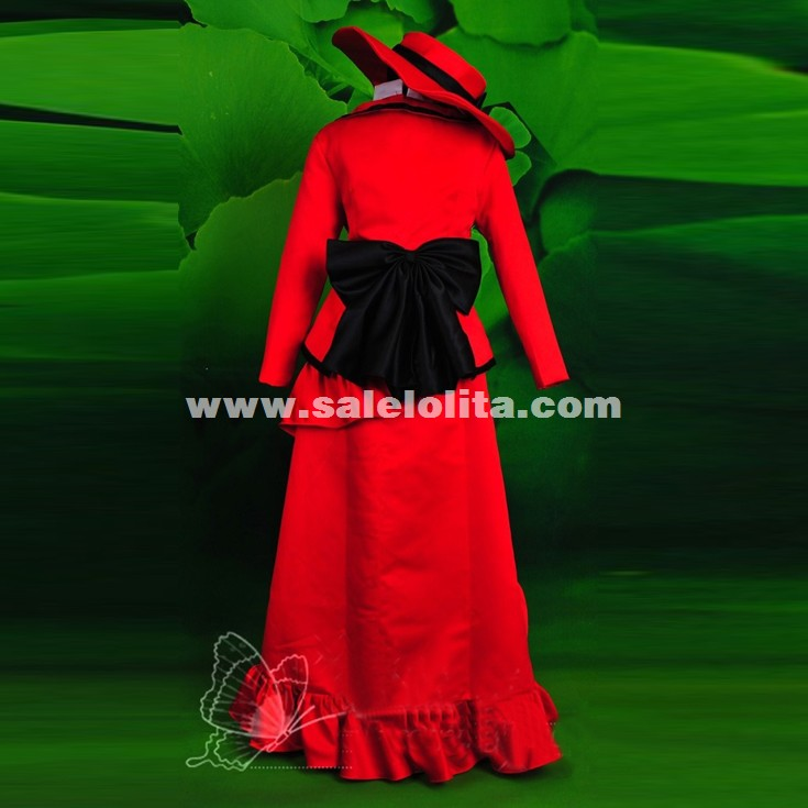 Black Butler Madam Red Angelina Dalles Cosplay Costume