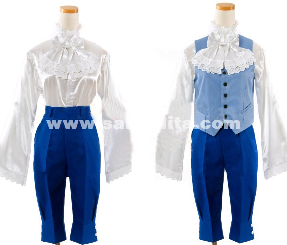 Black Bulter Kuroshitsuji Ciel Phantomhive Cosplay Costume Blue Swallow-tailed Coat Can Be Customized
