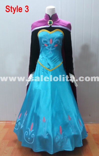 2018 Frozen Costume Adult Elsa Cosplay Elsa the Snow Queen Coronation Outfit Halloween Costume for Women Fantasy Dress