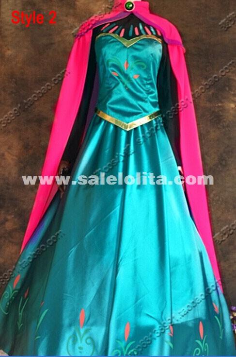 2016 frozen costume adult elsa cosplay elsa the snow queen coronation outfit halloween costume for women - Halloween Costumes Of Elsa