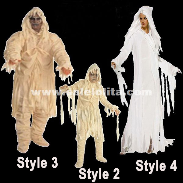 Adult & Kids Halloween Horrible Zombie Costume Halloween Ghost Costumes